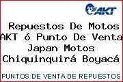 Repuestos De Motos AKT ó Punto De Venta Japan Motos Chiquinquirá Boyacá