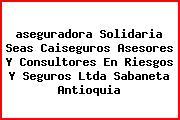 <i>aseguradora Solidaria Seas Caiseguros Asesores Y Consultores En Riesgos Y Seguros Ltda Sabaneta Antioquia</i>