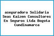 <i>aseguradora Solidaria Seas Kaizen Consultores En Seguros Ltda Bogota Cundinamarca</i>