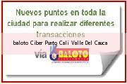 Teléfono y Dirección Baloto, Ciber Punto, Cali, Valle Del Cauca
