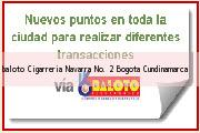 <i>baloto Cigarreria Navarra No. 2</i> Bogota Cundinamarca