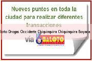 Teléfono y Dirección Baloto, Drogas Occidente Chiquinquira, Chiquinquirá, Boyaca