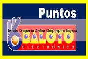 Teléfono y Dirección Baloto, Drogueria Andina, Chiquinquirá, Boyaca