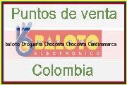 Teléfono y Dirección Baloto, Drogueria Choconta, Chocontá, Cundinamarca