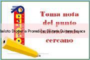 Teléfono y Dirección Baloto, Drogueria Promedicas Duitama, Duitama, Boyaca