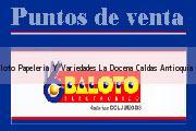 Teléfono y Dirección Baloto, Papeleria Y Variedades La Docena, Caldas, Antioquia
