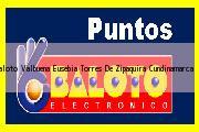 Teléfono y Dirección Baloto, Valbuena Eusebia Torres De, Zipaquira, Cundinamarca