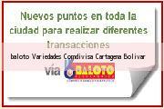 Teléfono y Dirección Baloto, Variedades Comdivisa, Cartagena, Bolivar