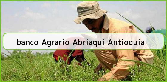 <b>banco Agrario Abriaqui Antioquia</b>