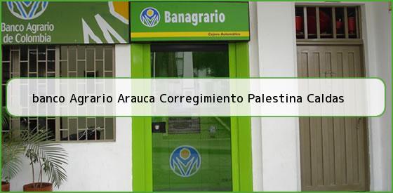 <b>banco Agrario Arauca Corregimiento Palestina Caldas</b>
