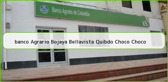 <b>banco Agrario Bojaya Bellavista Quibdo Choco Choco</b>