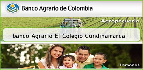 <b>banco Agrario El Colegio Cundinamarca</b>