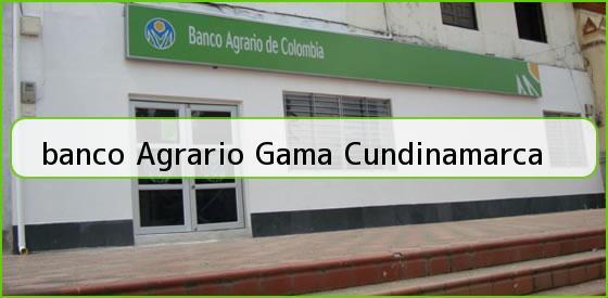 <b>banco Agrario Gama Cundinamarca</b>