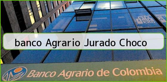 <b>banco Agrario Jurado Choco</b>