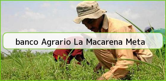 <b>banco Agrario La Macarena Meta</b>