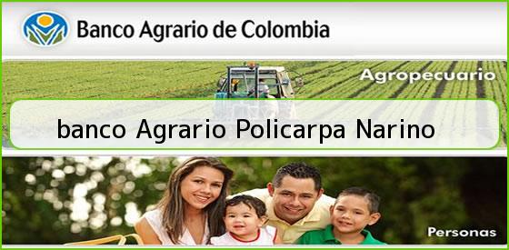 <b>banco Agrario Policarpa Narino</b>