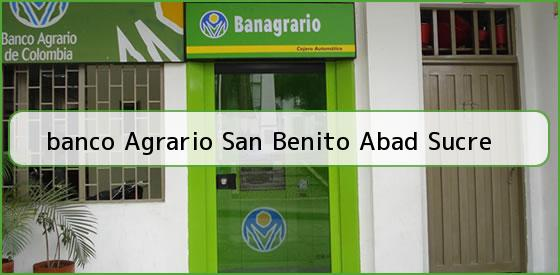 <b>banco Agrario San Benito Abad Sucre</b>