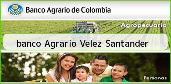 <b>banco Agrario Velez Santander</b>