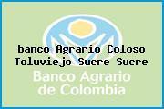 <i>banco Agrario Coloso Toluviejo Sucre Sucre</i>