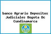 Teléfono y Dirección Banco Agrario, Depósitos Judiciales, Bogotá D.C, Cundinamarca
