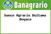 Teléfono y Dirección Banco Agrario, Carrera 16 No.16-29, Duitama, Boyacá