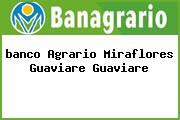<i>banco Agrario Miraflores Guaviare Guaviare</i>