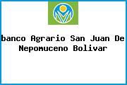 <i>banco Agrario San Juan De Nepomuceno Bolivar</i>