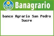 <i>banco Agrario San Pedro Sucre</i>