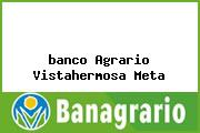 Teléfono y Dirección Banco Agrario, Calle 9 No.11-37 Calle 9 No. 2-77, Vistahermosa, Meta