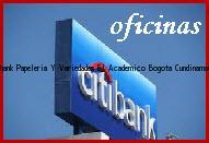 Teléfono y Dirección Banco Citibank, Papeleria Y Variedades El Academico, Bogota, Cundinamarca