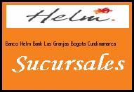 Teléfono y Dirección Banco Helm Bank , Las Granjas, Bogota, Cundinamarca