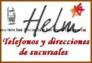 Teléfono y Dirección Banco Helm Bank , Oficina Torre Rem, Bogota, Cundinamarca