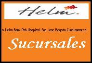 Teléfono y Dirección Banco Helm Bank , Pab Hospital San Jose, Bogota, Cundinamarca