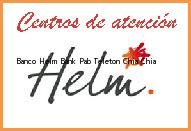 Teléfono y Dirección Banco Helm Bank , Pab Teletón, Chia, Chia