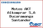 Motos AKT  Alkomprar S.A Bucaramanga Santander