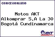 Motos AKT  Alkomprar S.A La 30 Bogotá Cundinamarca