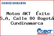 Motos AKT  Éxito S.A. Calle 80 Bogotá Cundinamarca