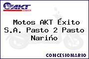 Teléfono y Dirección de Motos AKT Éxito S.A. Pasto 2, Pasto, Nariño, Colombia