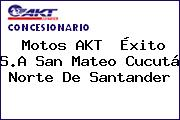 Motos AKT  Éxito S.A San Mateo Cucutá Norte De Santander