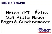 Motos AKT  Éxito S.A Villa Mayor Bogotá Cundinamarca