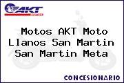 Motos AKT Moto Llanos San Martin San Martin Meta