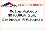 Motos Auteco MOTOBACA S.A. Zaragoza Antioquia