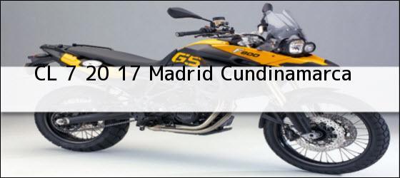 Teléfono, Dirección y otros datos de contacto para CL 7 20 17, Madrid, Cundinamarca, Colombia