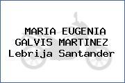 MARIA EUGENIA GALVIS MARTINEZ Lebrija Santander
