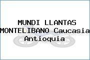 MUNDI LLANTAS MONTELIBANO Caucasia Antioquia