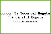<i>condor Sa Sucursal Bogota Principal 1 Bogota Cundinamarca</i>