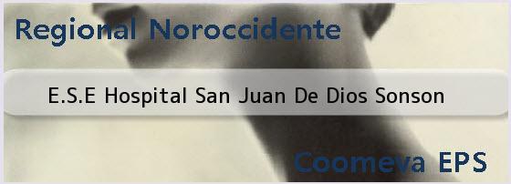 <i>E.S.E Hospital San Juan De Dios Sonson</i>
