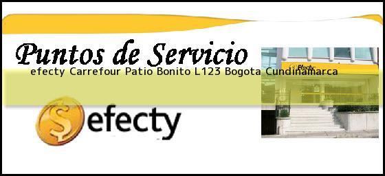 <b>efecty Carrefour Patio Bonito L123</b> Bogota Cundinamarca