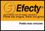 Teléfono y Dirección Efecty, Bachue Calle 87, Bogota, Cundinamarca