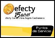 <i>efecty Carlos Lleras</i> Bogota Cundinamarca